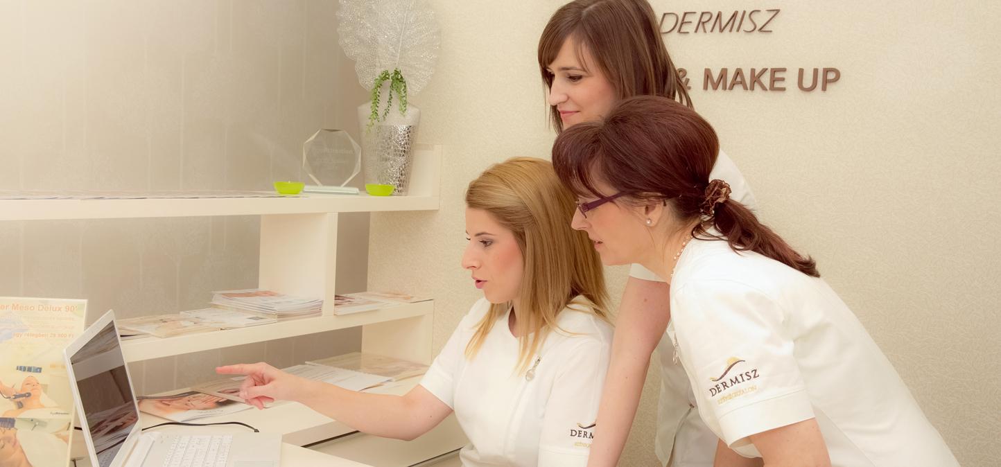 A Dermisz Kozmetika dolgozói